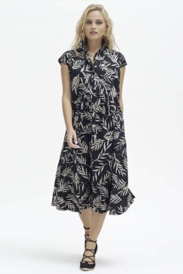 Palmes Black Print